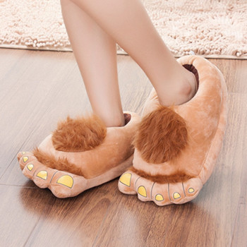 FAYUEKEY Furry Adventure Winter Women Men Vintage Home Cartoon Hobbit Toes Big Feet Slippers Halloween Pantufa Warm Floor Shoes 4