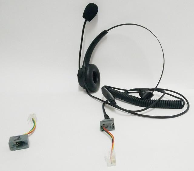 コールセンターヘッドセット電話コード付き有線オフィスヘッド電話rj11ヘッドセットマイク付きすべての電話機