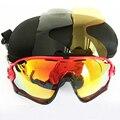 3 Объектив Марка Поляризованные Солнцезащитные Очки Дизайн Открытый Спорт Google Солнцезащитные Очки Мужчины Женщины ОК Челюсть Óculos Ciclismo