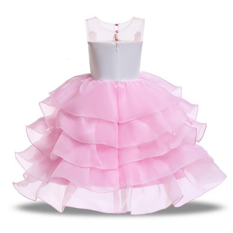 Girls Unicorn Flowers Cake Tutu Dresses With Beadbad for Kids Princess Fancy Birthday Theme Party Costumes 1 10 Years Pink Blue in Girls Costumes from Novelty Special Use