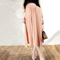 2017 Bust Skirt Female Medium Long Irregular Linen A Line Skirt Bust Skirt Sg97030