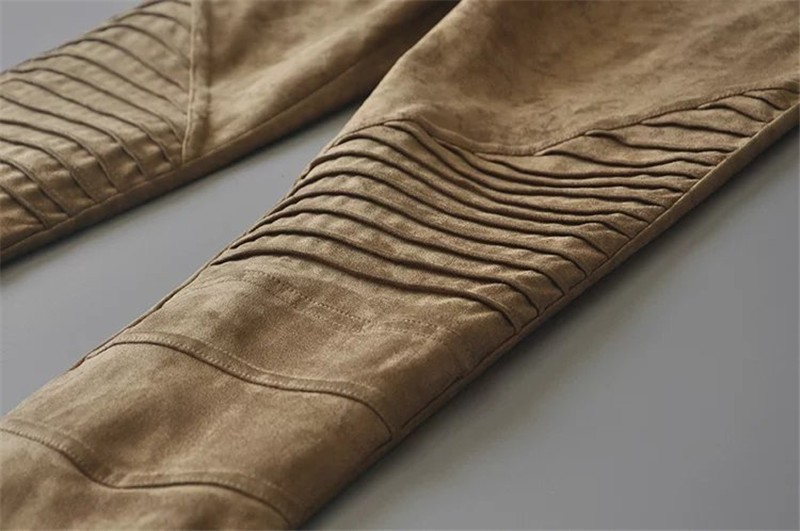 Slim Suede Jeans 13