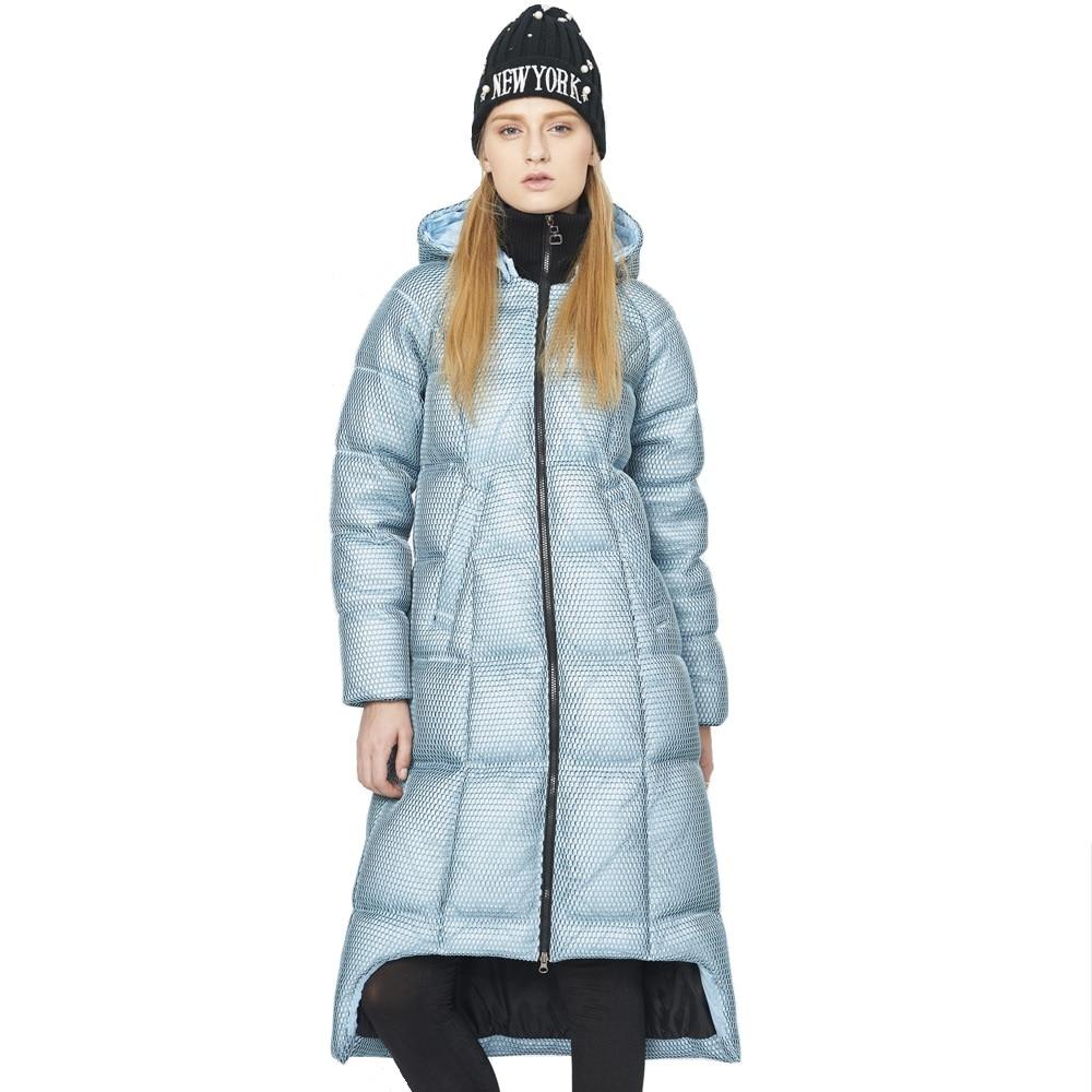 High Quality 2016 Winter European Fashion Style Women Long Down Coat Female Asymmetric Length 90 ...