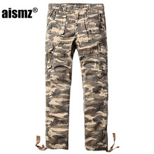 Aismz Overalls Men's Millitary Clothing Tactical Cargo Pants Male Combat Camouflage Militar Work Army Style Camo Trouser 3255