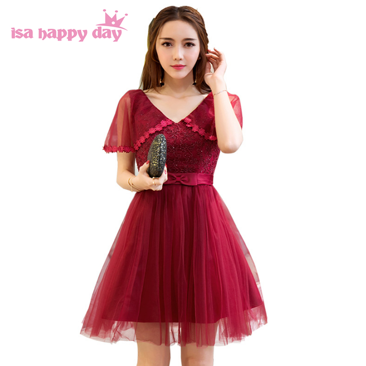 womens v neck burgundy engagement homecoming party dress wine red ...