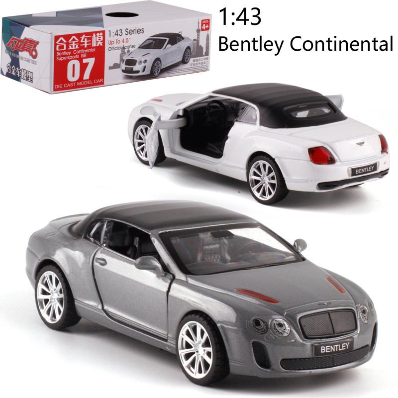 Caipo 1:43 Pull-back Car Continental Alloy  Diecast Metal Model Car For Collection & Gift & Decoration