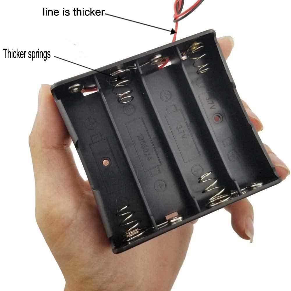 Rovtop 4/3/2/1x18650 Batteria Scatola di Immagazzinaggio Della Cassa FAI DA TE 1 2 3 4 Slot modo Batterie Clip Holder Contenitore Con Filo di Piombo Spille Z2