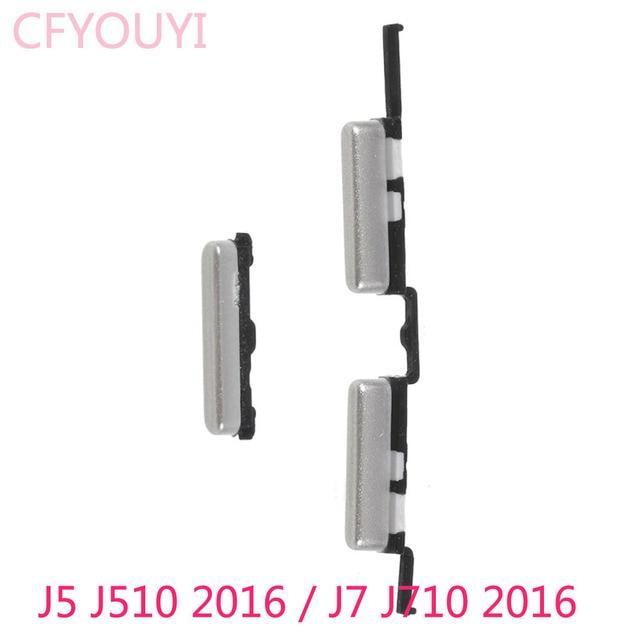 Neue Seite Schlüssel Set Power und Volumen Tasten Teil Für Samsung Galaxy J5 (2016) j510/J7 (2016) J710