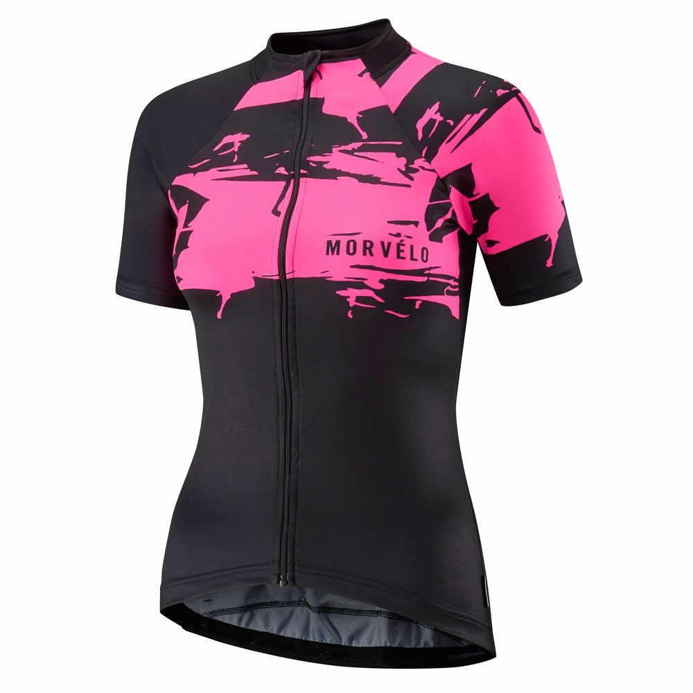 נשים בנות Morvelo קיץ קצר שרוול אופניים רכיבה על אופניים ג 'רזי כביש MTB אופני חולצה חיצוני ספורט Ropa ciclismo חולצות