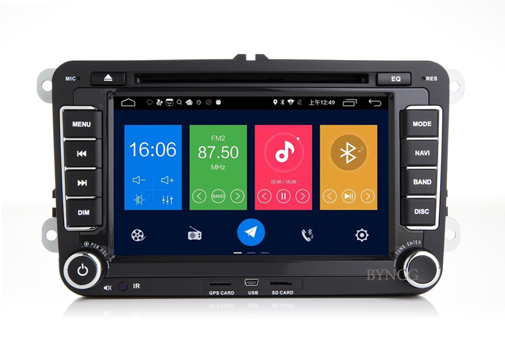 Lecteur multimédia rapide d'autoradio BYNCG android 8.1 pour Volkswagen passat b5 b6 golf 4 5 tiguan polo skoda octavia - 3