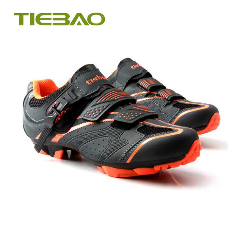 Tiebao MTB Cycling Shoes Men Self-Locking Mountain Bike Shoes Racing Athletic Sport Breathable Riding Bicycle Superstar Sneakers