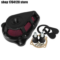 Motorcycle Turnable Air Cleaner Air Filter System Matte Black Aluminum For Harley Sportster XL 48 883 1200 1991 2017