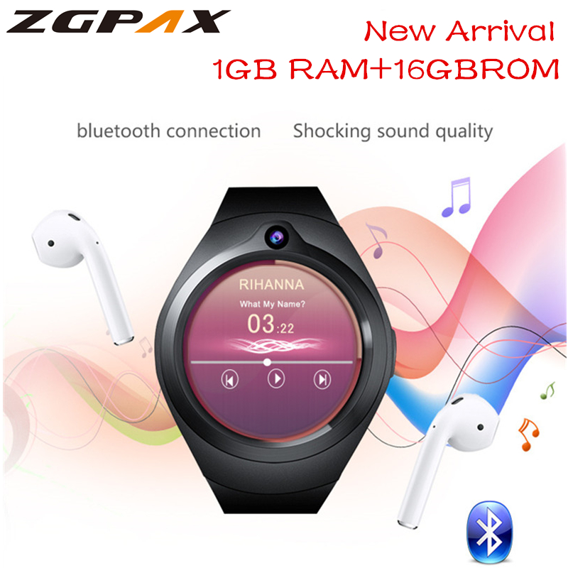 2018 Smart Watch Android 5 1 1GB 16GB Heart Rate Bluetooth WiFi GPS smartwatch MP3 player