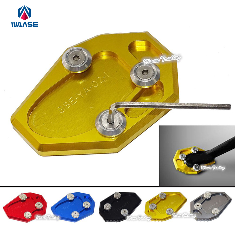 Motorcycle Kickstand Foot Side Stand Extension Pad Support Plate For Yamaha YZF MT-07 MT07 FZ07 XJ6 XJ6N FZ6 FZ6R kickstand foot side stand extension pad support plate for yamaha yzf r3 r25 mt 03 mt 25 2014 2015 2016