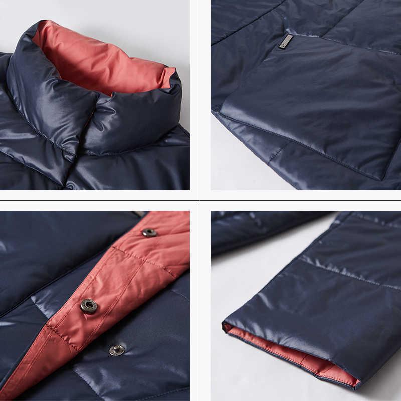 Астрид 2019 зимняя куртка женские новые длинное пальто Женщины Slim fit сплошной Разноцветные куртки теплые ветрозащитные высокое качество темперамент coatAM1960