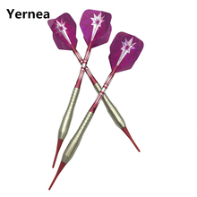 Yernea High-quality 3Pcs/set 19g Electronic Darts Profession Soft Tip Dart Match darts Copper body Aluminum Alloy shaft недорого