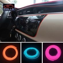 Flexible Neon Cold Light / 9 Meter EL Wire For Audi A5 S5 RS5 / LED Car Central Control Desk Decorative Strip / 9 Color Choice