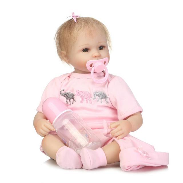 NPK reborn premi baby dolls 40cm silicone Reborn  bonecas realistic magnetic pacifier bebe toys For Kids Birthday Gift