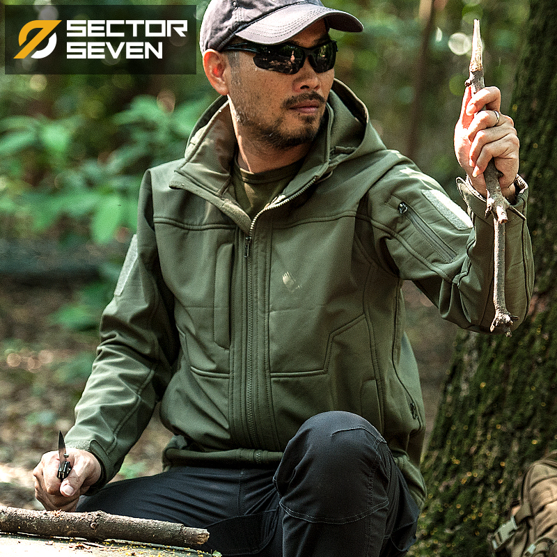 SECTOR SEVEN Military Shells Man Tactical Windbreaker Active Jacket Army Coats