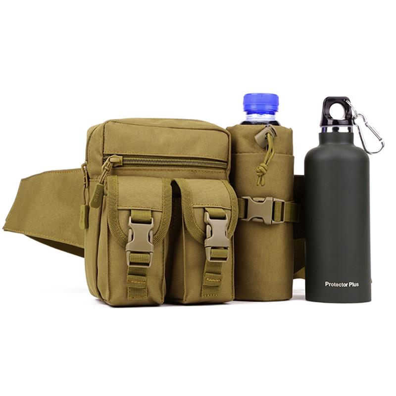 수호자 플러스 남자 우드랜드 전술 허리 팩 파우치 물 병 포켓 홀더 방수 몰리 엉덩이 벨트 가방 N03