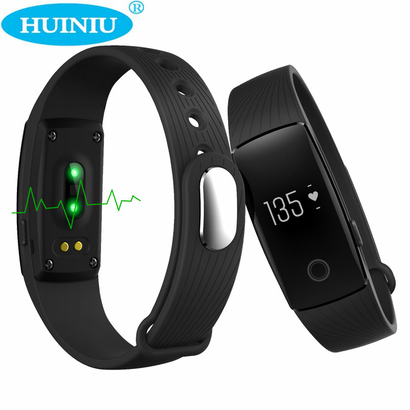 imágenes para Bluetooth banda Heart Rate Monitor Podómetro Inteligente Pulsera Smartband Rastreador de Ejercicios Para Android iOS PK fitbits cicret Pulsera