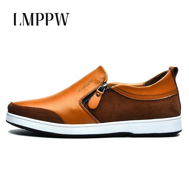 chaussures en cuir décontractée en plein air luxe mode doux étudiants pour hommes occasionnels mocassins d4yBSm6