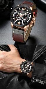 Image 5 - CURREN แบรนด์หรูผู้ชายกีฬาทหารนาฬิกาผู้ชายนาฬิกาควอตซ์นาฬิกาหนังกันน้ำวันที่นาฬิกาข้อมือ relogio masculino 8329