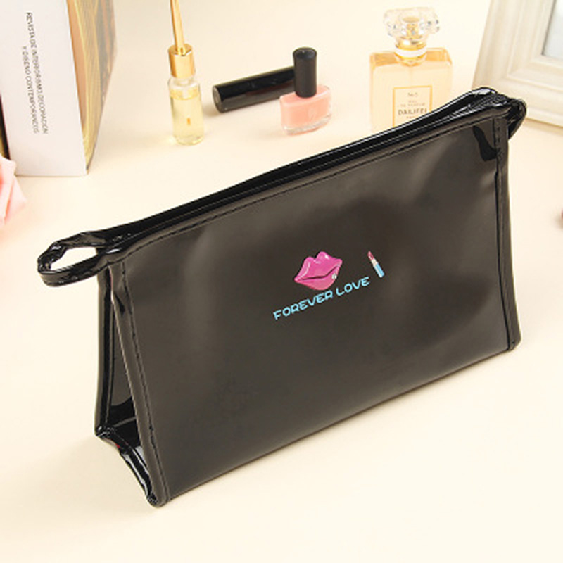 Купить с кэшбэком Candy Waterproof Makeup Pouch PU Leather Girls Travel Cosmetic Bag Small Make Up Organizer Storage Beauty Case