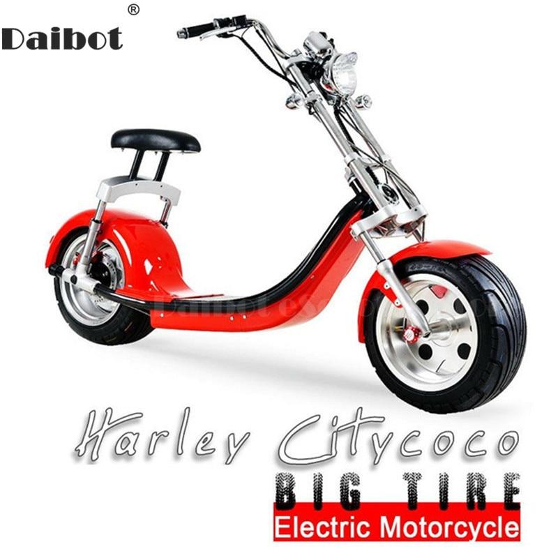 Daibot Scooter Eléctrico Harley Citycoco dos ruedas Scooter Eléctrico 60 V 1500 W motocicleta eléctrica para adultos