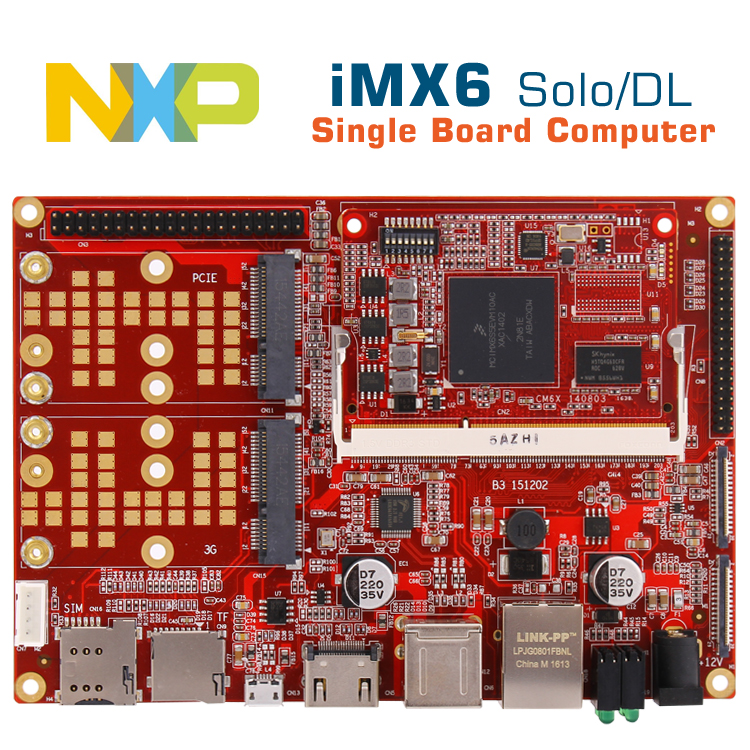 где купить i.mx6solo computer board imx6 android/linux development board i.mx6 cpu cortexA9 board embedded POS/car/medical/industrial boar дешево