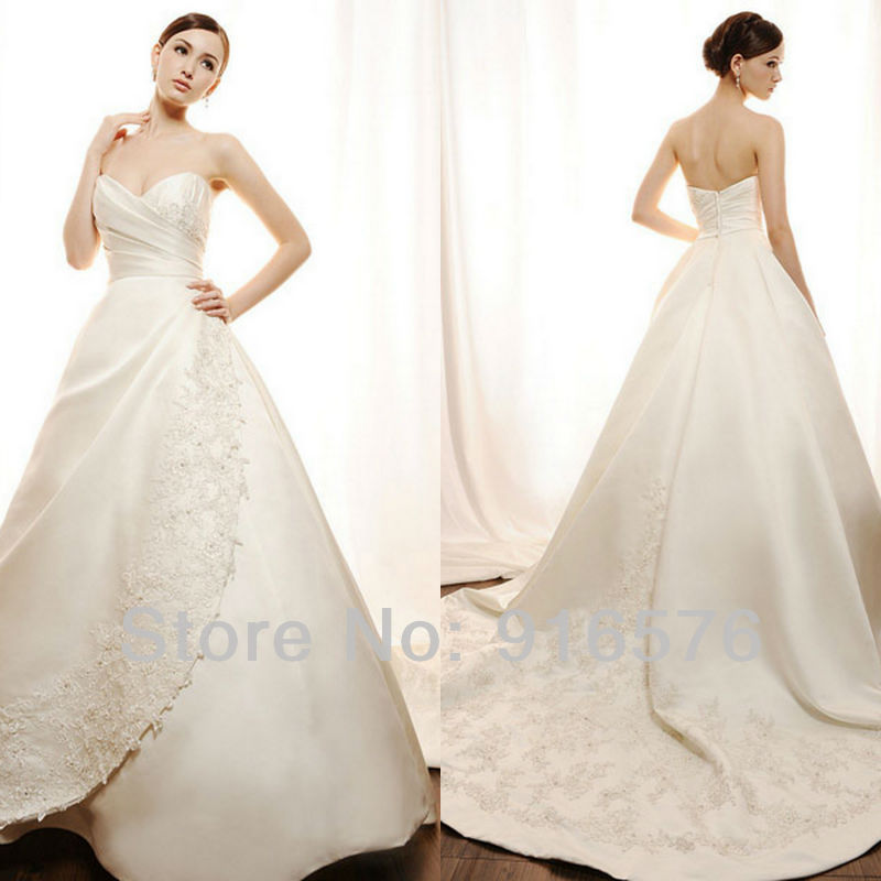 Aline Wedding Gown: Lace Flower Princess Dress New 2013 Product Aline