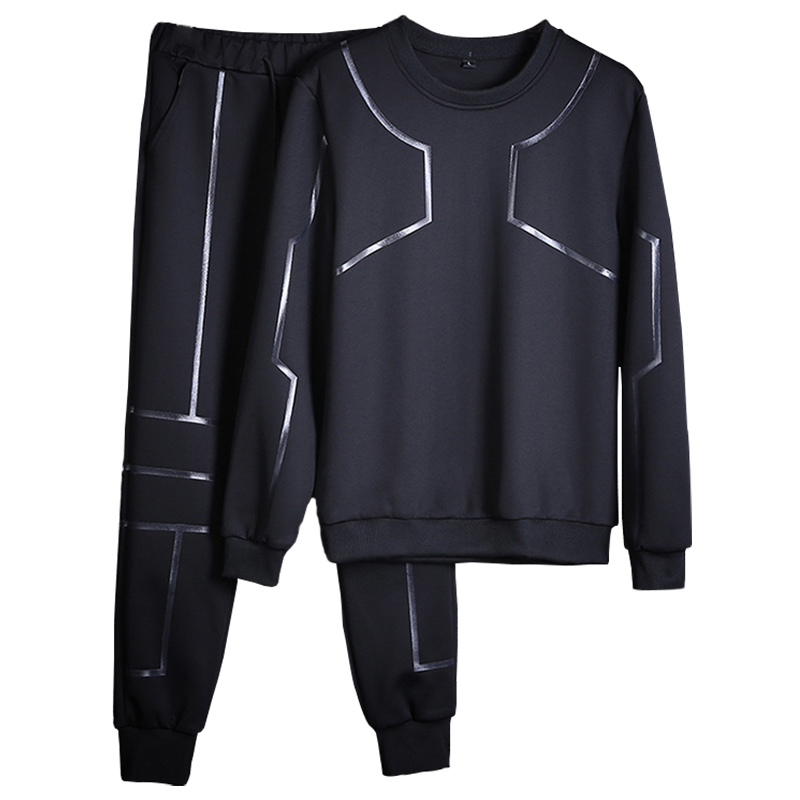 Youths Casual Autumn&Spring Fitness Clothing Mens Long Sleeve Sets Casual Spring Men Sweatshirts Brand Tracksuits Jacket+Pants