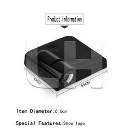 2 шт. светодиодные двери автомобиля Добро пожаловать логотип свет для peugeot Mercedes Benz проектор светильник Тень призрака