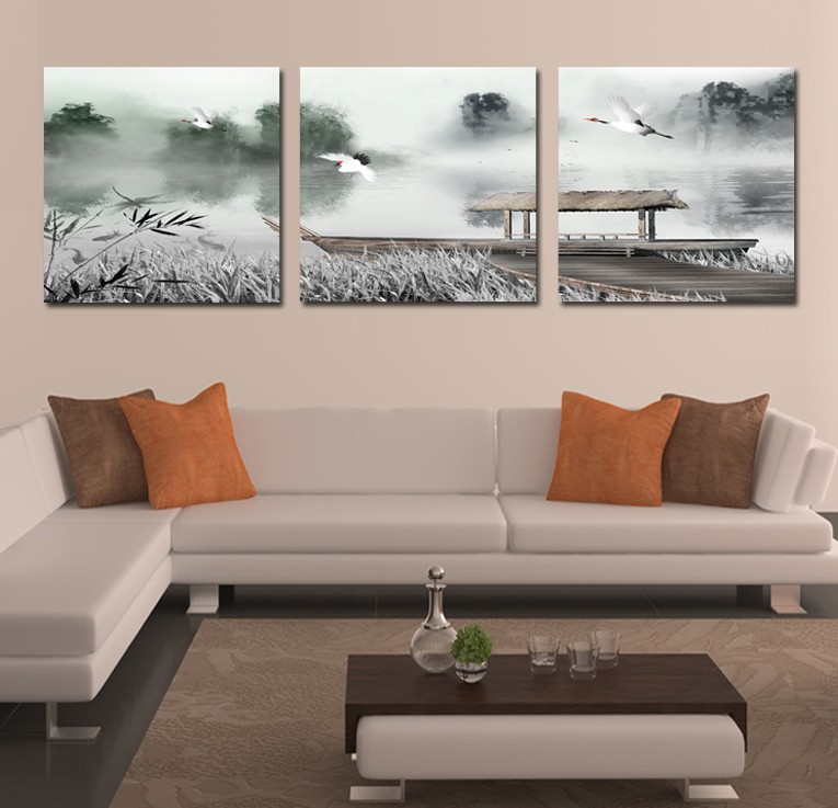 Beautiful Wall Painting Store 2017 Hot Sale Very Beautiful Traditional Chinese Freehand Brushwork Canvas Painting With Birds And Ship Picture Oil Painting