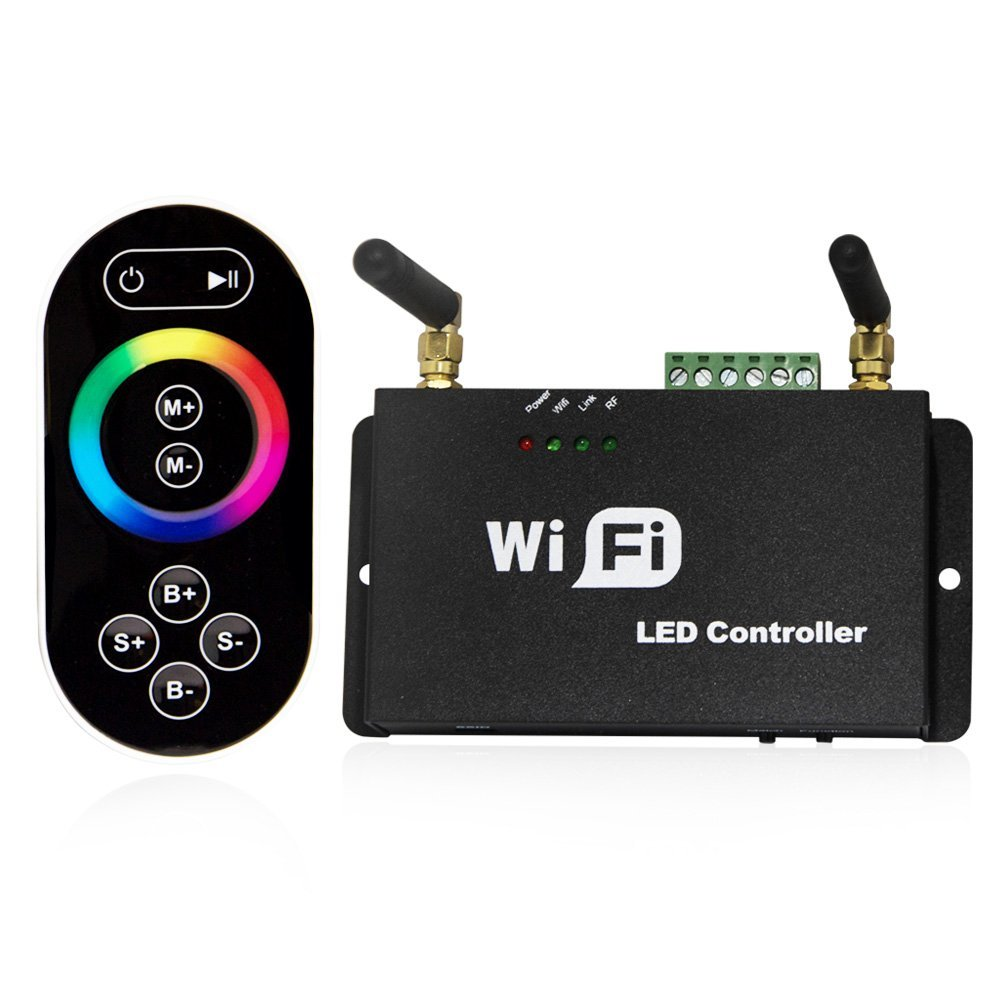 WiFi RF Remote Controller Wifi RGB/Dual/Single Color LED Dimmer Android IOS for WS2811 WS2812B 6803 RGB LED Strip light rgb led wifi controller led strip wifi controler rgb rf ir remote touch remote dc12v smart phone ios android control