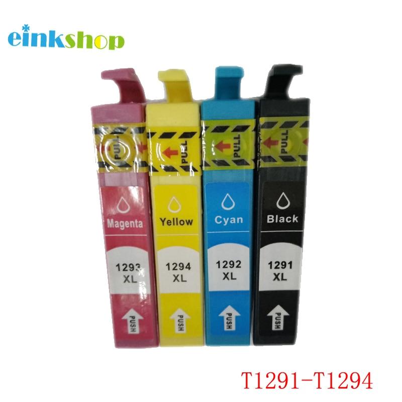 einkshop T1291 - T1294 Ink Cartridge Full For Epson Stylus SX235W SX230 SX420W SX425W SX430W SX435W SX440W SX445W Printer