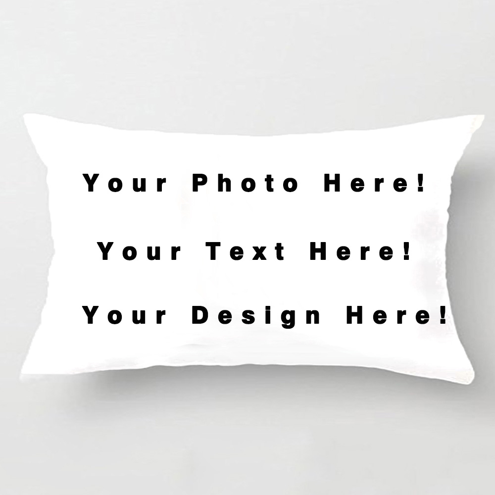 Diy Pillow Case Print: Custom Throw Pillow Case Print with Your Pictures Texts Designs    ,