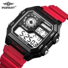 цены POPART LED Digital Watch Men Waterproof Sport Clock Men's Wristwatches Fashion Male Watches Mens Luxury Brand Relogio Masculino
