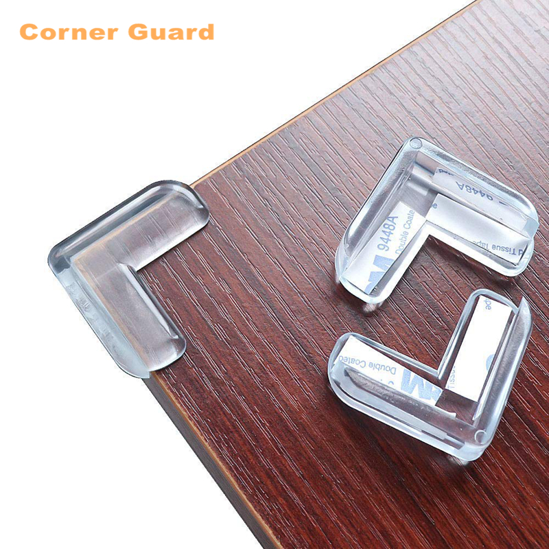 2PCS Edge & Corner Guards,Baby Proofing Corner Guards,Clear Rubber Corner Guards For Furniture Against Sharp Corners