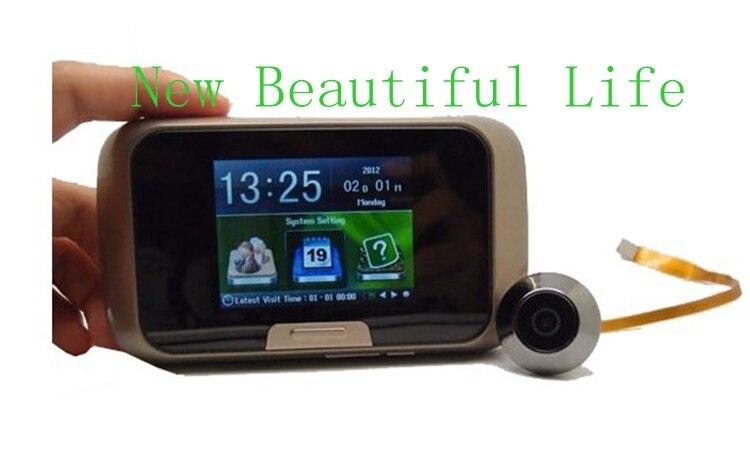 2,8 TFT дисплей двери зрителей 3MP CMOS сенсор HD цифровой глазок видео регистраторы мини бытовые электронные дверные звонки