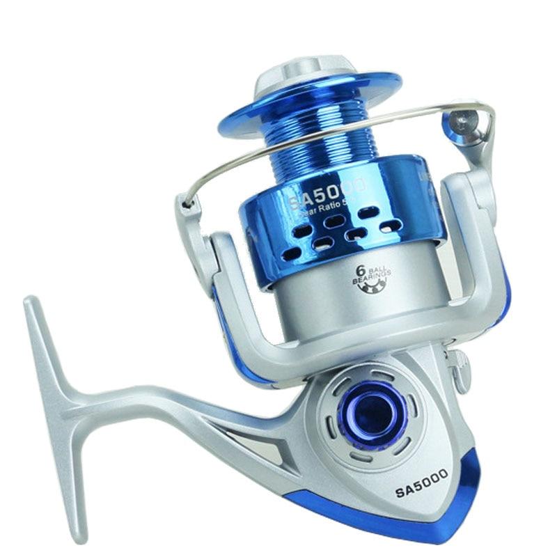 Hot spinning reel fishing reel sa1000 7000 6bb 5 5 1 blue for Sa fishing promo code free shipping