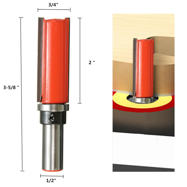 цена на Herramientas Tools Selling New Brocas Furadeira Mini Drill 1/2 Inch Straight Shank Router Bit 3/4 Pattern Trim Woodworking Tool