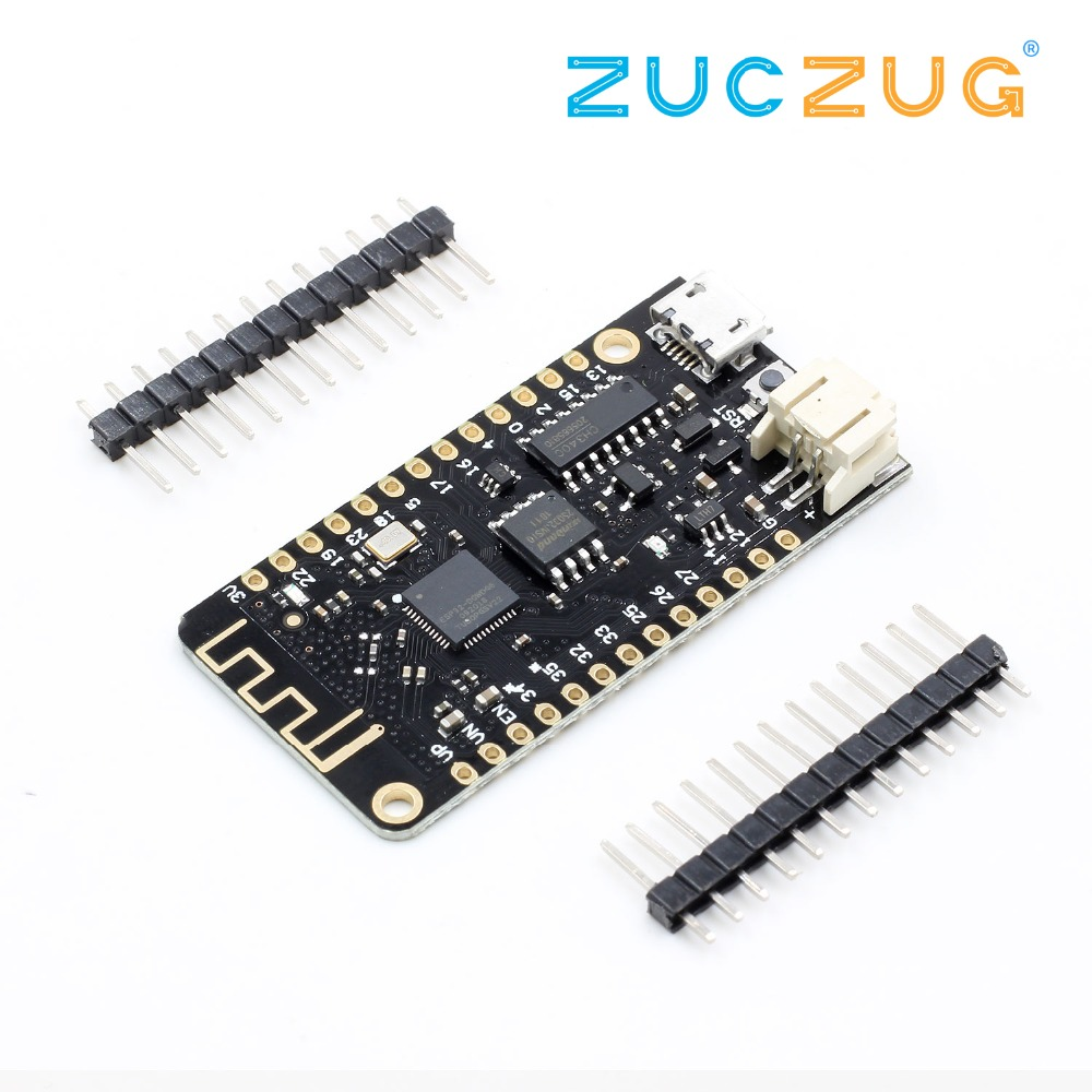Wemos32 Wifi Bluetooth Development Board Antenna ESP32 ESP-32 REV1 CH340 CH340G MicroPython Micro USB Lithium Battery Interface
