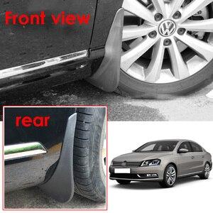 Image 4 - واقيات الطين للسيارة مصبوبة من الأمام والخلف لأوروبا VW Passat B7 2011 2014 2012 2013 واقيات الطين والرذاذ واقيات الطين