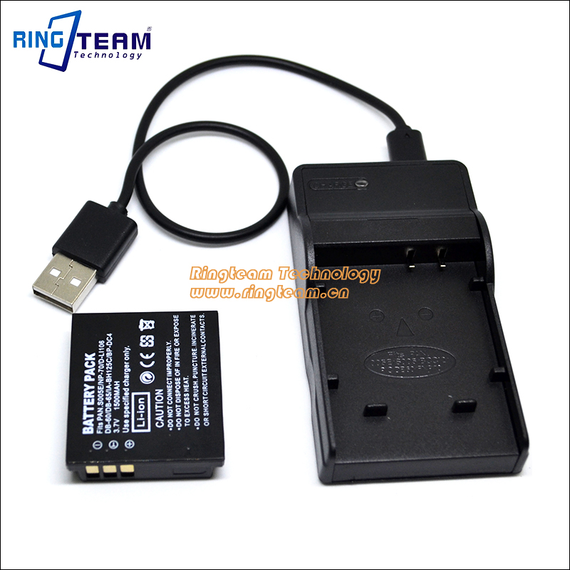 DB60 DB65 DB-60 DB-65 Battery USB Charger for Ricoh Caplio R3 R4 R5 R30 R40 GX100 GX200 G600 G700 GR Digital 1 2 3 Cameras