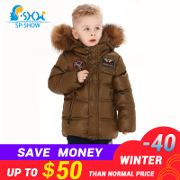 2019 SP SHOW Winter Children's Outwear Turtleneck Jacket Boy Coats Boy Clothing Sets Down And Parkas 1166