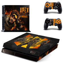 Apex Legends Disign sticker Vinyl For PS4 Console Skin Cover For Playstation 4 + 2 Controller Decal For Dualshock4 Game Stickers