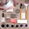 Envío gratis - ojos falsos pestañas falsas pestañas extensión Kit Set maquillaje cosmético