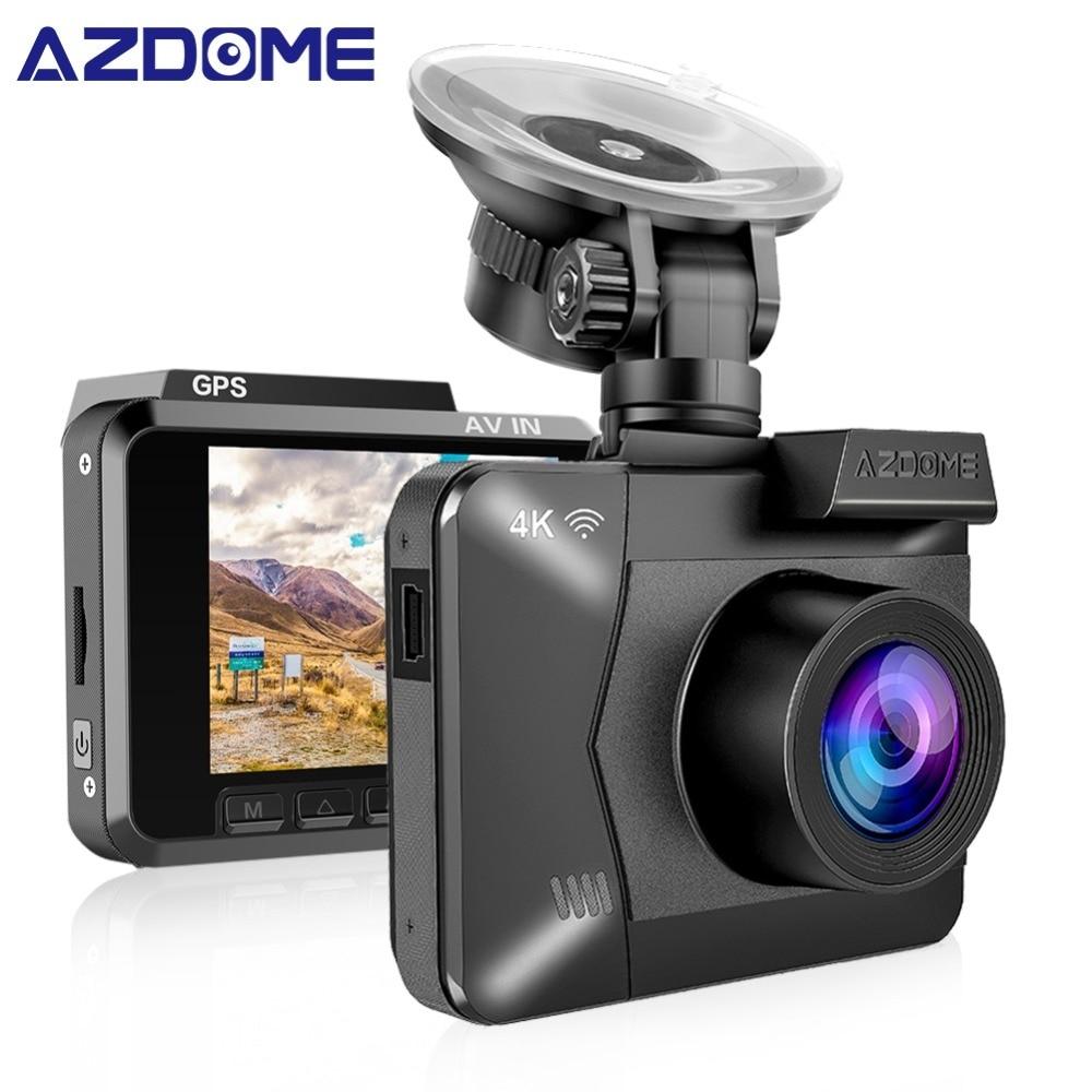 AZDOME M06 WiFi Dual Lens Built in GPS FHD 1080P Front VGA Rear Camera Car DVR