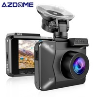 AZDOME M06 WiFi Dual Lens Built in GPS FHD 1080P Front + VGA Rear Camera Car DVR Recorder 4K Dash Cam Dashcam WDR Night Vision
